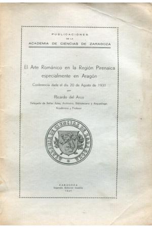 (1932) EL ARTE ROMÁNICO EN LA REGIÓN PIRINAICA DE RICARDO DEL ARCO
