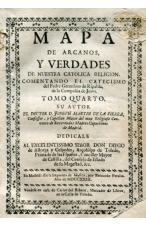 (AÑO 1723). MAPA DE ARCANOS Y VERDADES DE NUESTRA RELIGIÓN CATÓLICA