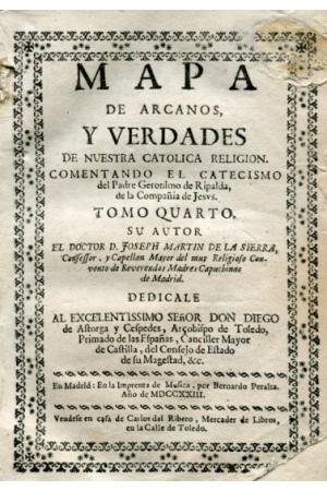 (1723)  MAPA DE ARCANOS Y VERDADES DE NUESTRA RELIGIÓN CATÓLICA