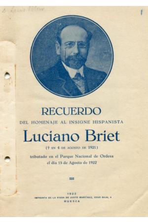 (1922) LUCIEN BRIET. RECUERDO DEL HOMENAJE A LUCIANO BRIET