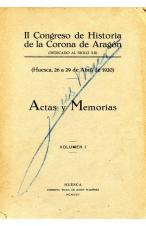 (1920) II CONGRESO DE HISTORIA DE LA CORONA DE ARAGÓN