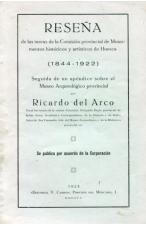 (1923) RESEÑA 1844-1922 DE RICARDO DEL ARCO