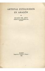 (1934) ARTISTAS EXTRANJEROS EN ARAGÓN DE RICARDO DEL ARCO