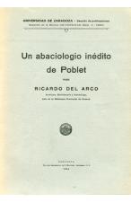 (1935) UN ABACIOLOGIO INÉDITO DE POBLET DE RICARDO DEL ARCO