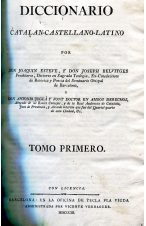 (1803) DICCIONARIO CATALÁN CASTELLANO LATINO