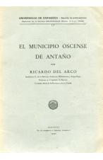 (1936) EL MINICIPIO OSCNSE DE ANTAÑO DE RICARDO DEL ARCO