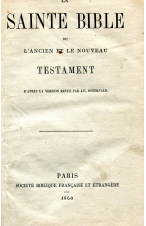 (1860) LA SAINTE BIBLE