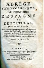 (1765) ABREGE CHRONOLOGIQUE DE L´HISTOIRE DÉSPAGNE ET PORTUGAL