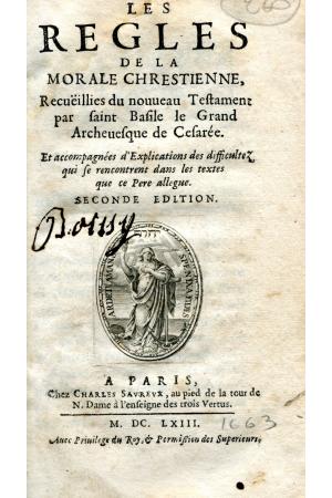 (1663) LES REGLES DE LA MORALE CHRESTIENNE