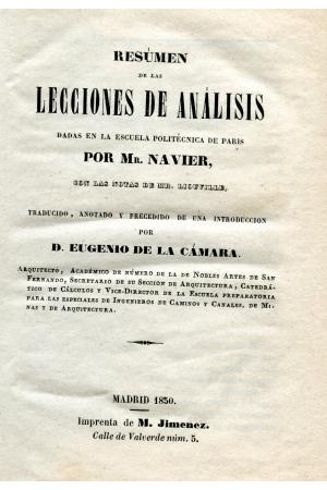 (1850) RESUMEN DE LAS LECCIONES DE ANALISÍS