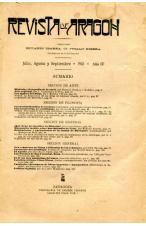 (1903) REVISTA DE ARAGÓN, JULIO, AGOSTO Y SEPTIEMBRE