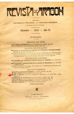 (1903) REVISTA DE ARAGÓN DICIEMBRE