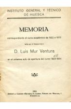 (1924) MEMORIA DEL I.G.T. DE LUIS MUR VENTURA