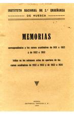 (1934) INSTITUTO NACIONAL DE 2ª ENSEÑANZA. MEMORIAS
