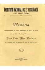 (1929) INSTITUTO NACIONAL DE 2ª ENSEÑANZA. MEMORIA