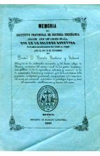 (1861) INSTITUTO PROVINCIAL DE SEGUNDA ENSEÑANZA DE HUESCA