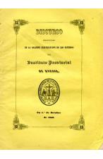 (1852) DISCURSO EN LA SOLEMNE INAUGURACIÓN DEL INSTITUTO DE HUESCA