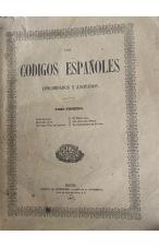(1847) LOS CÓDIGOS ESPAÑOLES. CONCORDADOS Y ANOTADOS